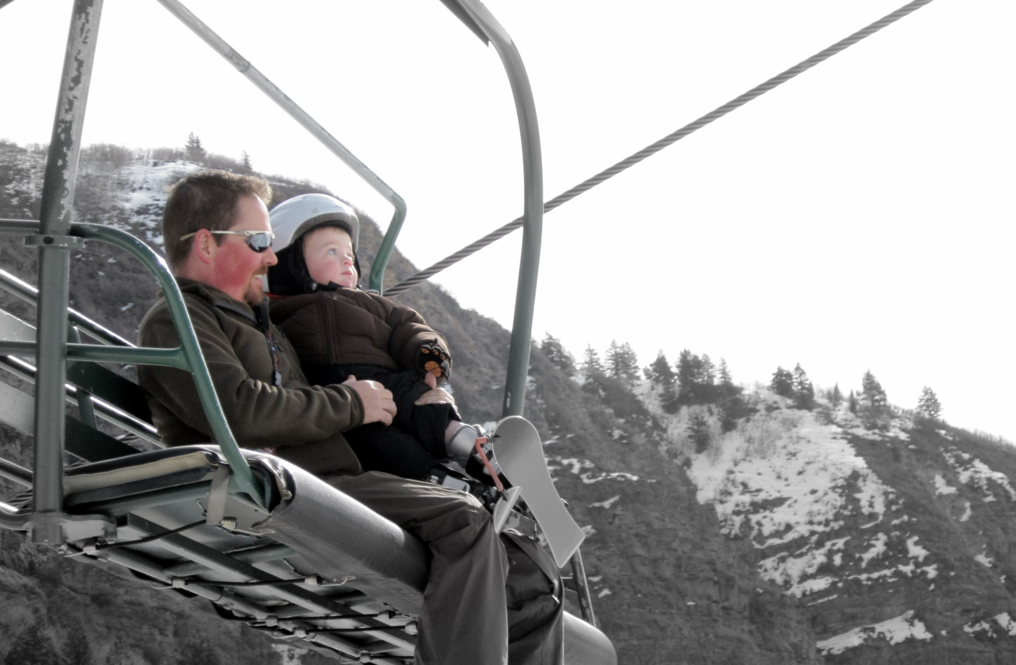 Solomon and Dad on the Ski Lift