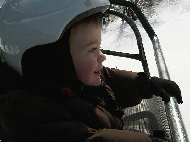 Solomon on Ski Lift